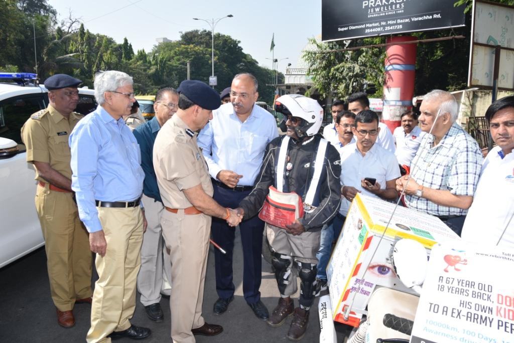 Bharat Organ Yatra Mr Pramod Laxman Mahajan Flag of Ceremony Organized by Donate Life.