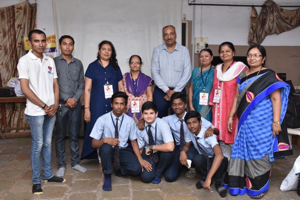 Organ Donation awareness program in K&MP High School jointly organise Giant Group of Narmad Nagari Surat