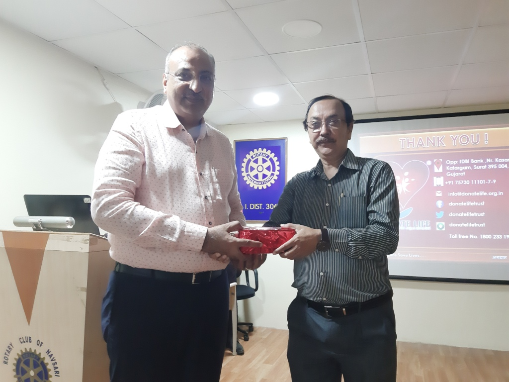 Organ Donation awareness programme at Rotary Club of Navsari.
