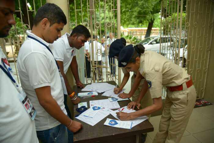 district police Anand (Anand division) at D.N high school Anand