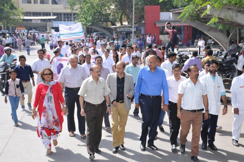 World Women Day Organ Donation Awareness Rally with New Civil Nursing College
