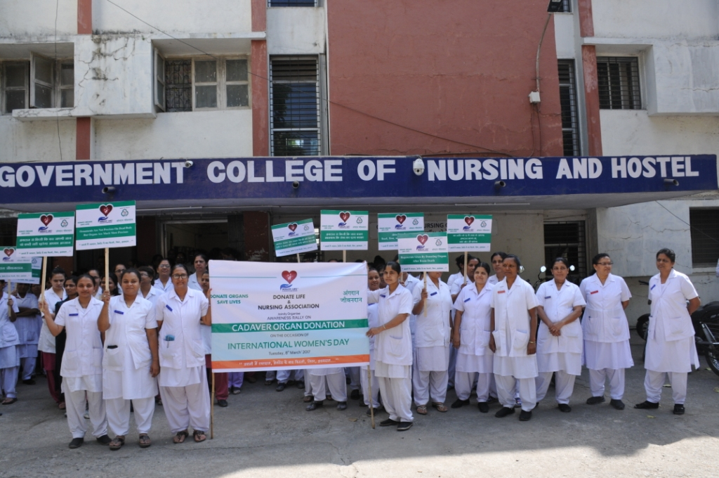 World Women Day Organ Donation Awareness Rally with New Civil Nursing College