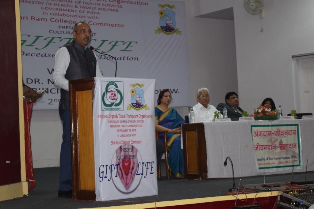 Organ Donation Awareness Program at Shri Ram College of Commerce, New Delhi Organise by Notto