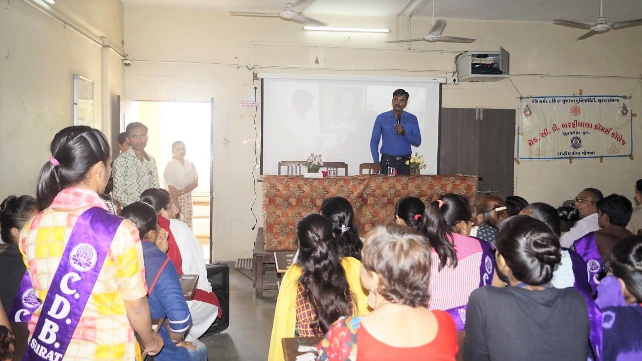 Organ Donation Awareness Program at C.D Barfiwala College Surat.