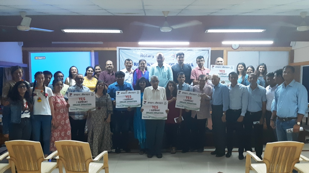 Rotary Club of Udhna invited Shri Nilesh Mandlewala Founder & President Donate Life as a Speaker to talk about Organ Donation in their weekly meeting.